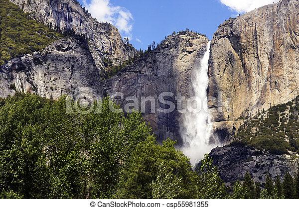 Yosemite Falls, Yosemite National Park, California - csp55981355