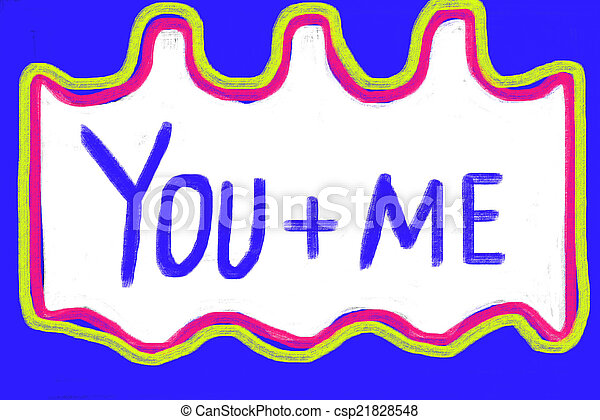 you and me concept - csp21828548
