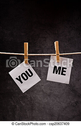 You And Me, relationship concept - csp20637409