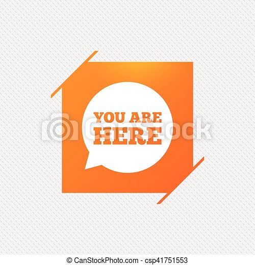 You are here sign icon info speech bubble map pointer with vector you are here sign icon info speech bubble csp41751553 publicscrutiny Gallery