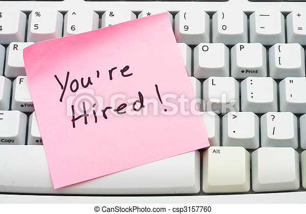 You are hired - csp3157760