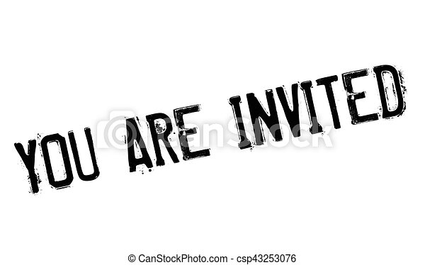 you are invited rubber stamp grunge design with dust vectors rh canstockphoto ie you're invited free clip art you're invited free clip art