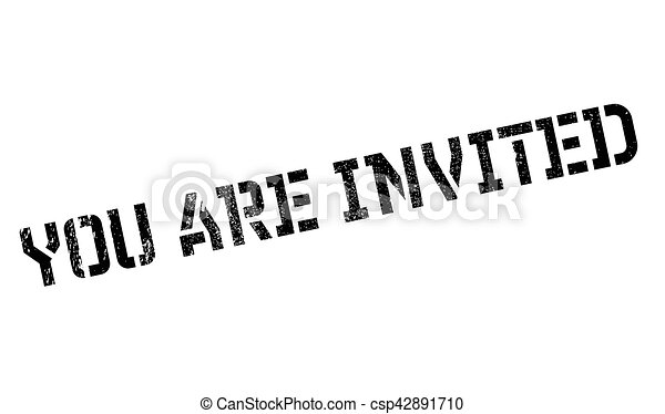 you are invited rubber stamp grunge design with dust vector clip rh canstockphoto com you're invited animated clipart you're invited animated clipart