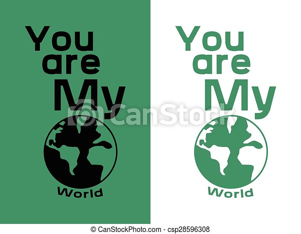 T Shirt Design Line Art : You are my world t shirt design. this artwork for a print on