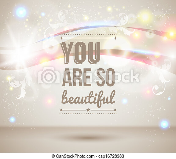 you are so beautiful motivating light poster fantasy