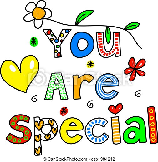 you are special you are special decorative text message isolated on