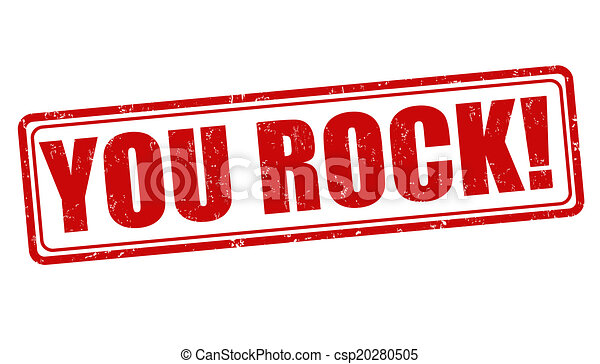 you rock stamp you rock grunge rubber stamp on white vector rh canstockphoto com you rock clipart you guys rock clipart