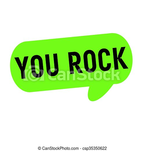 you rock wording on speech bubbles green cylinder clip art search rh canstockphoto com you rock animated clipart you rock clipart free