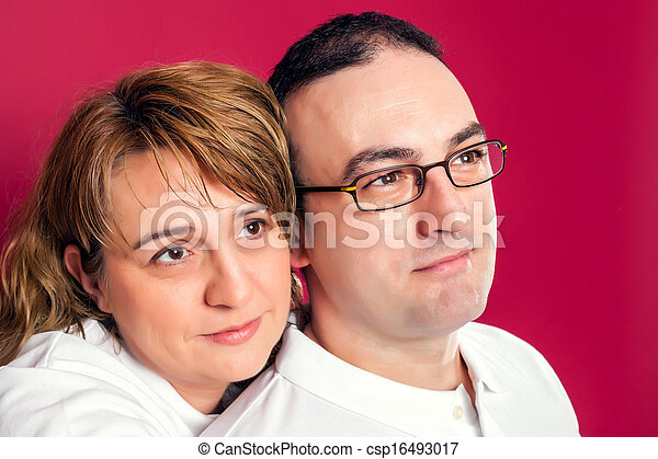 Young Adult Couple Smiling - csp16493017
