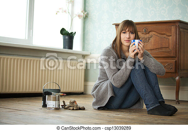 Young Adult Relaxing - csp13039289