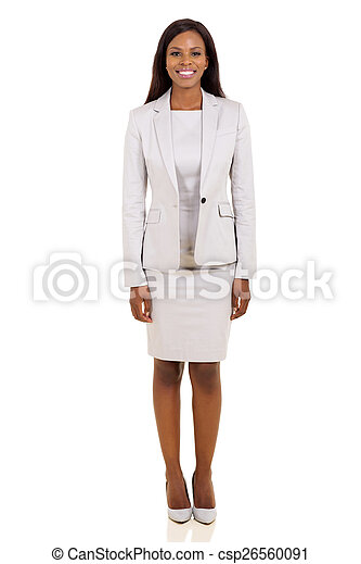 young african american business woman - csp26560091