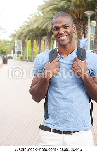 young African American college student - csp9580446