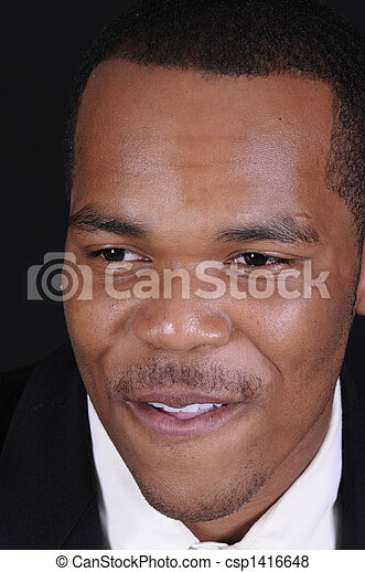 young African American man - csp1416648
