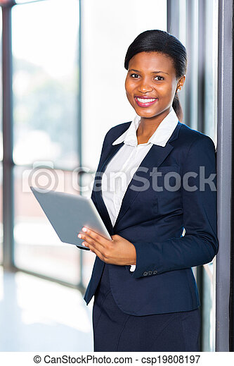 young african american office worker - csp19808197