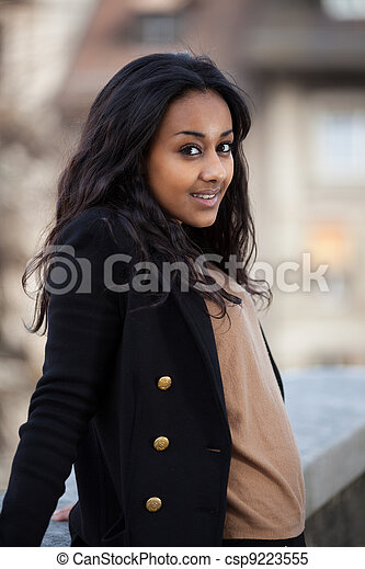 young african american teenage woman - csp9223555