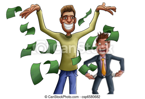 Poor man clipart and stock illustrations 2669 poor man vector young and crazy rich man this is a rich man but he has a sciox Images