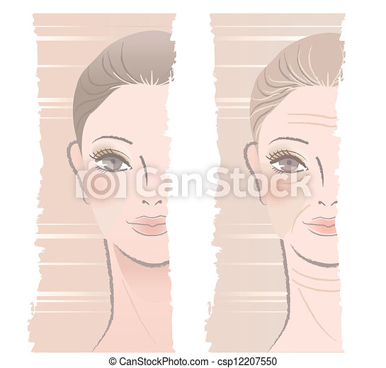 young and middle aged woman - csp12207550