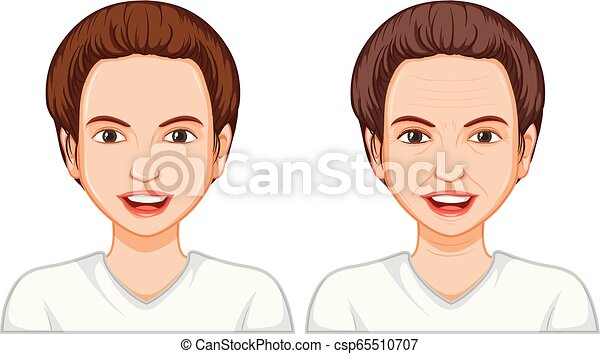 Young and old woman face - csp65510707