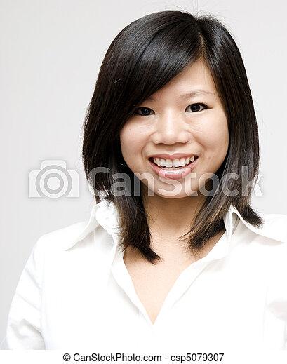 Young Asian woman - csp5079307