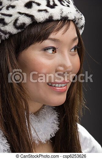young asian woman smiling - csp6253626