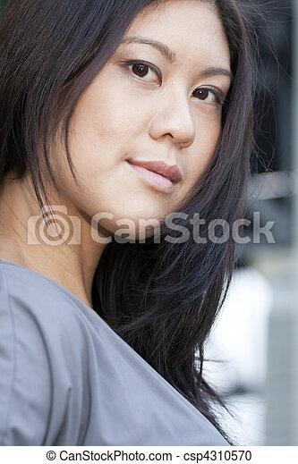 Young Asian Woman Smiling - csp4310570
