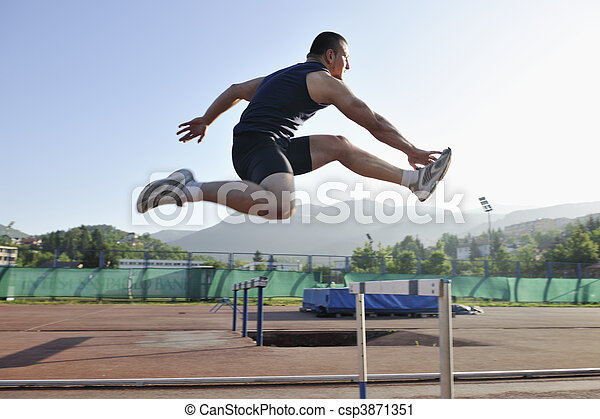 young athlete running - csp3871351