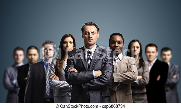 Young attractive business people - csp6868734