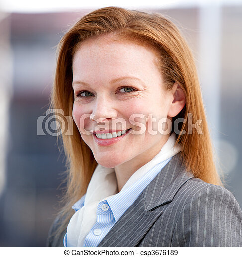 Young attractive Business woman  - csp3676189