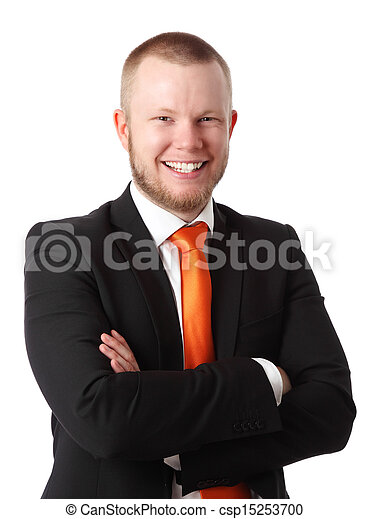 Young attractive businessman - csp15253700