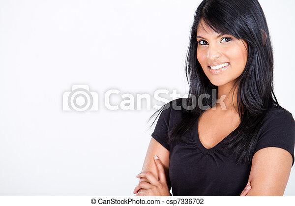 young attractive hispanic woman - csp7336702