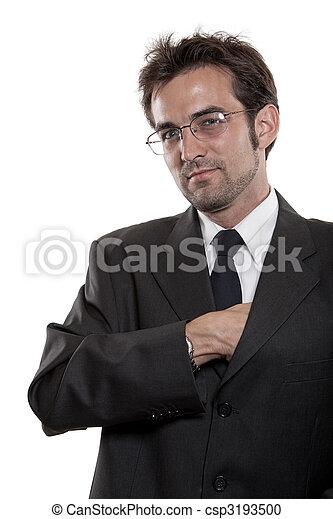Young attractive twenties caucasian man - csp3193500