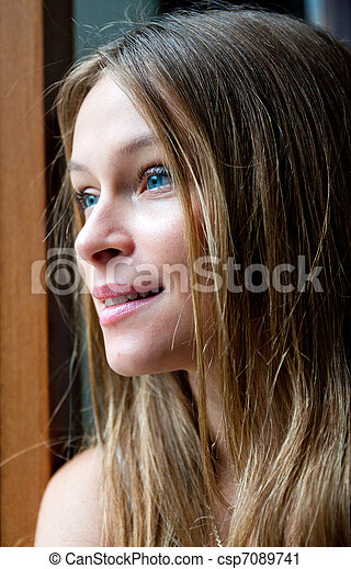 young attractive woman portrait - csp7089741