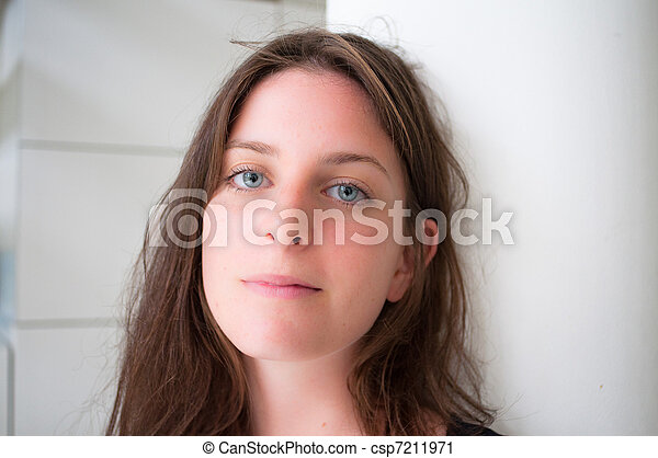 young attractive woman portrait - csp7211971