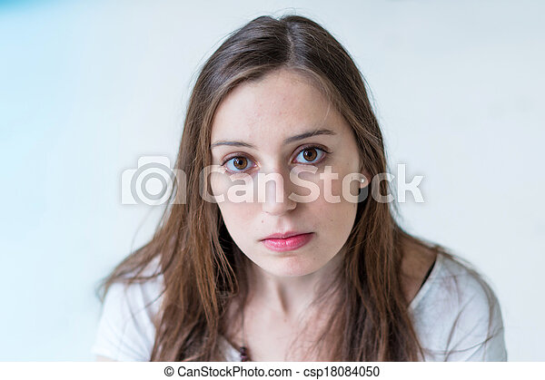 young attractive woman portrait - csp18084050