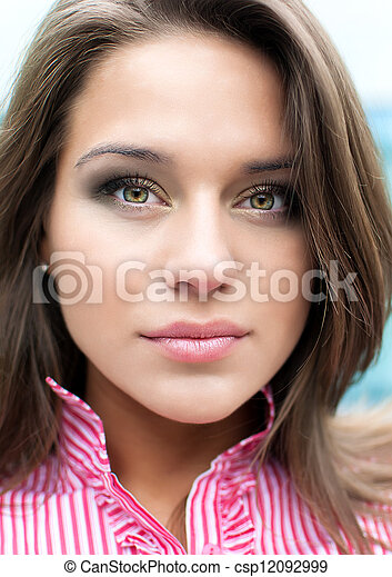 Young attractive woman portrait - csp12092999