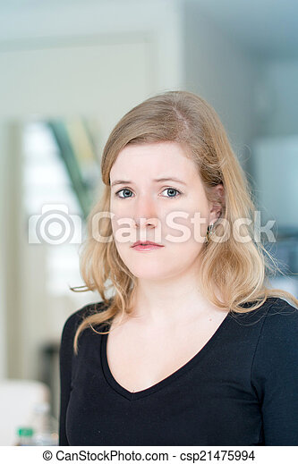 young attractive woman portrait - csp21475994