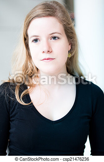 young attractive woman portrait - csp21476236