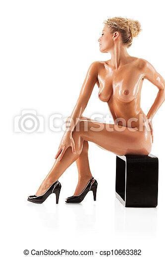 Young beautiful naked woman - csp10663382