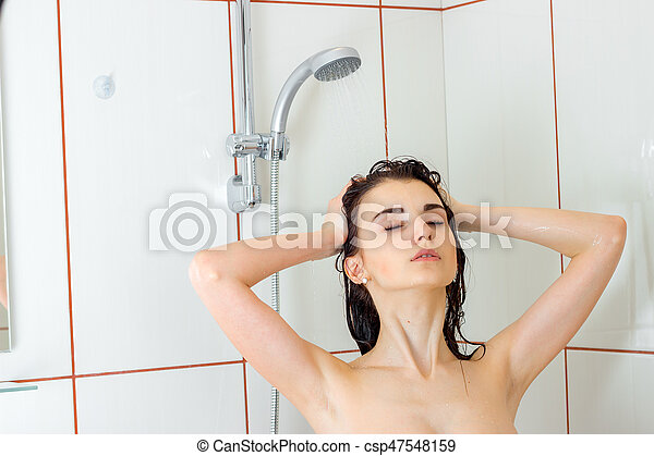 Sexy girl in the shower