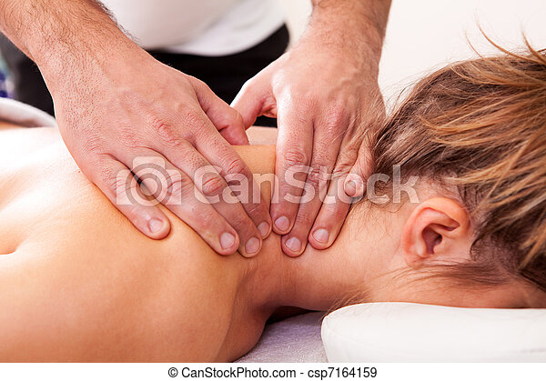 Young beautiful woman getting spa treatment - csp7164159