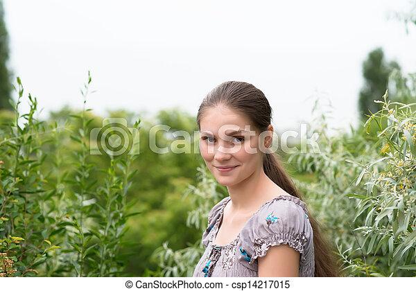 young beautiful woman - csp14217015