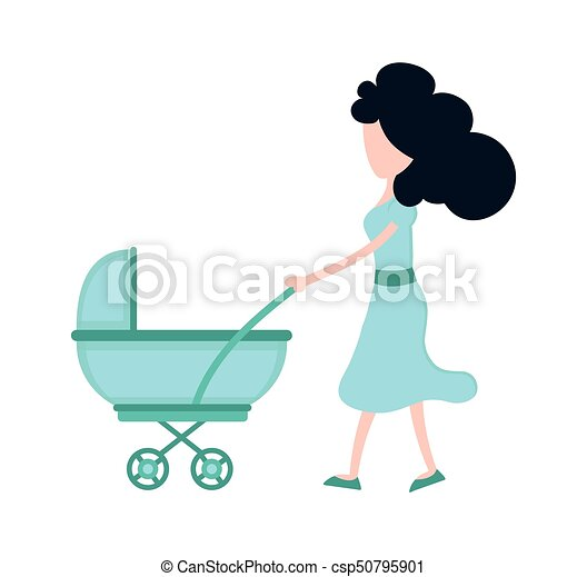 Young beauty mother mom with child - csp50795901
