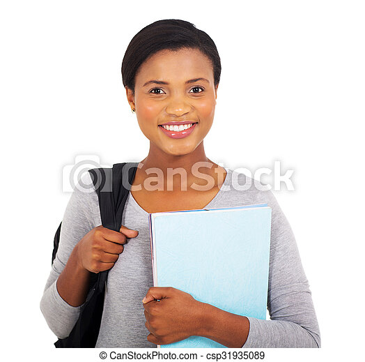 young black college student - csp31935089