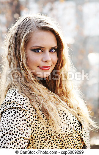 young blond woman - csp5009299