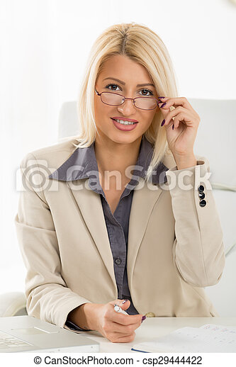 Young Blonde Business Secretary - csp29444422