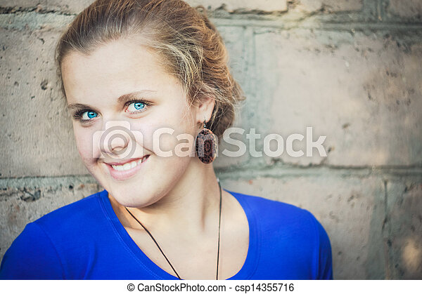 Young blue-eyed girl - csp14355716