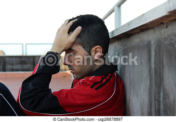 Young boy downcast - csp26878897