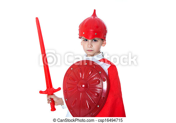Young Boy Dressed Like a knight - csp16494715