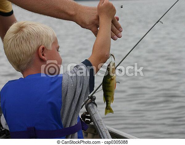 Young boy Fishing - csp0305088