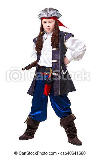 Young boy posing with a gun - csp40641660